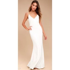 Infinite Glory White Maxi Dress